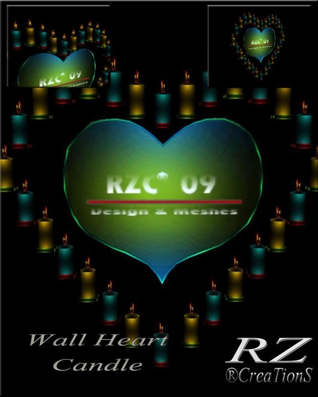 151. Wall Heart Candle Valentine Mesh Furniture