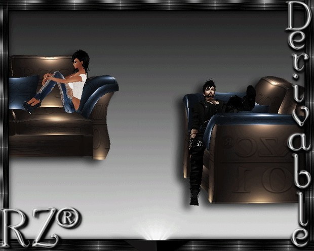127. Tiki Couch 2015 With Poses Mesh Furniture