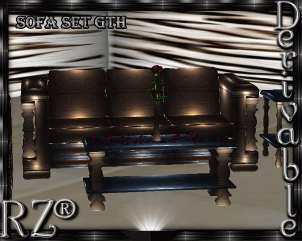 71. Sofa Set Gothic Mesh Furniture