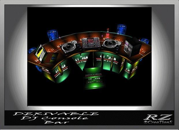 44. DJ Console Bar Mesh Furniture