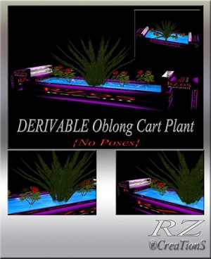 50. Oblong Cart Plant No Poses Mesh Furniture