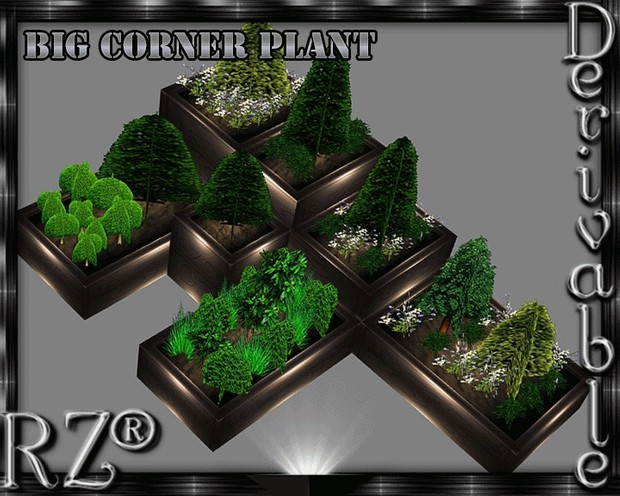 47. Corner Plant XL Mesh Furniture