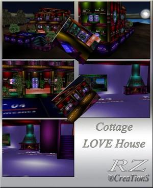 32. Cottage LOVE House Mesh Room