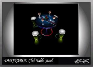 20. Club Table Stool Mesh Furniture