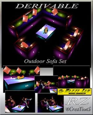 84. Outdoor Sofa Set Mesh Furniture