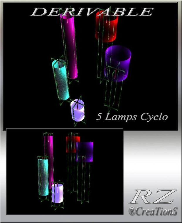 174. 5 Lamps Cyclo Decoration Mesh Furniture