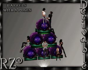 78. Barrels 8 Poses Mesh Furniture