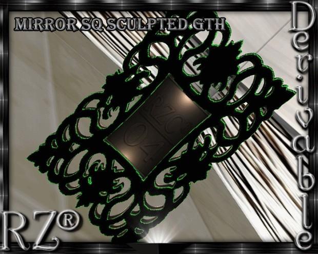 137. Mirror Sculpted Mesh Furniture