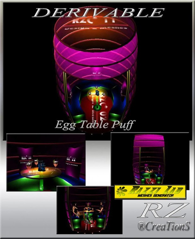 81. Egg Table Puff Mesh Furniture