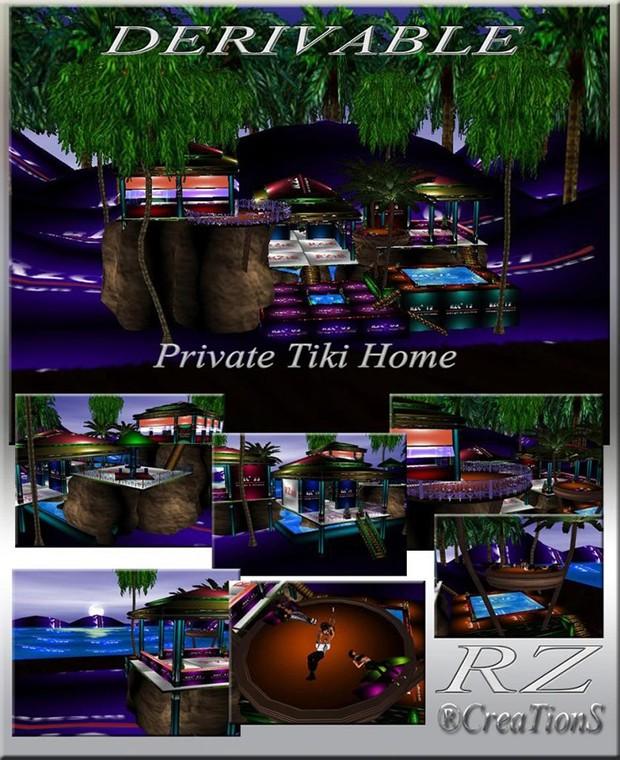 35. Private Tiki Home Mesh Room
