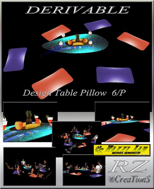 82. Table Pillow Mesh Furniture