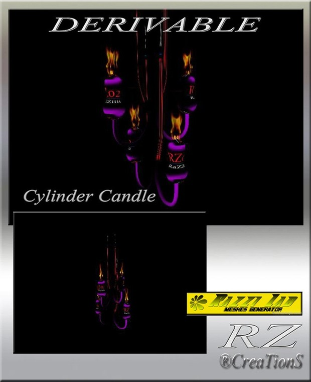 89. Cylinder Candle Mesh Furniture