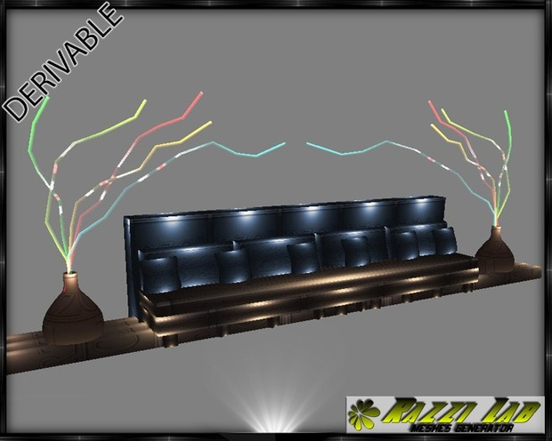 189. Wall Deco Couch Set Mesh Furniture