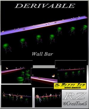 80. Wall Bar Mesh Furniture