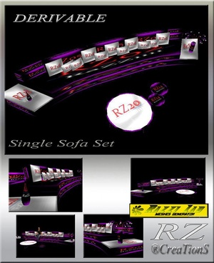 91. Single Sofa Set Mesh Furniture