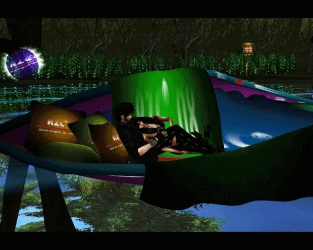 77. Boat Leaf animation 1 couple poses Mesh Furniture