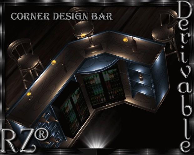 158. Corner Design Bar Mesh Furniture