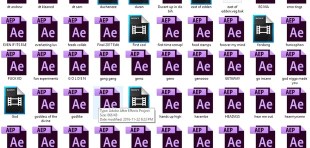 Project Files + Unfinished Edits (200+)