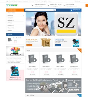 SzStore MULTI-VENDOR AUTOMATED DIGITAL DELIVERY STORE SHOPPING CART PHP SCRIPT 3.0