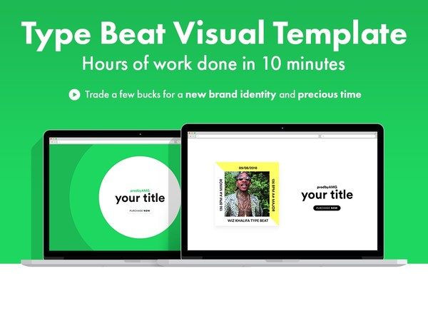 Modern App Type Beat Visual Template (animated/customizable) for Premiere Pro CC 2019 (latest)