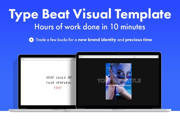 Fashion Type Beat Visual Template (animated/customizable) for Premiere Pro CC 2019 (latest)