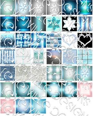 36 random Icy feeling textures