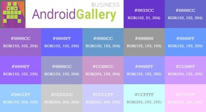190+ Photoshop Swatch Files by Android Gallery