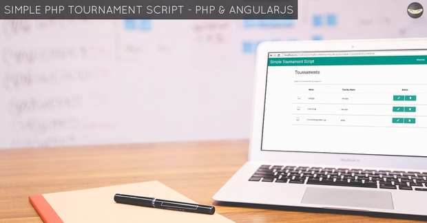 Simple PHP Tournament Script - PHP & AngularJS