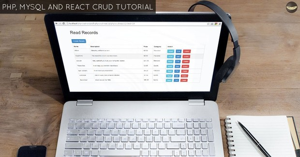 LEVEL 1 - React CRUD Tutorial & PHP Rest API Source Code