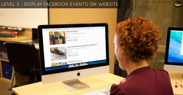 LEVEL 3 - Display Facebook EVENTS on Website