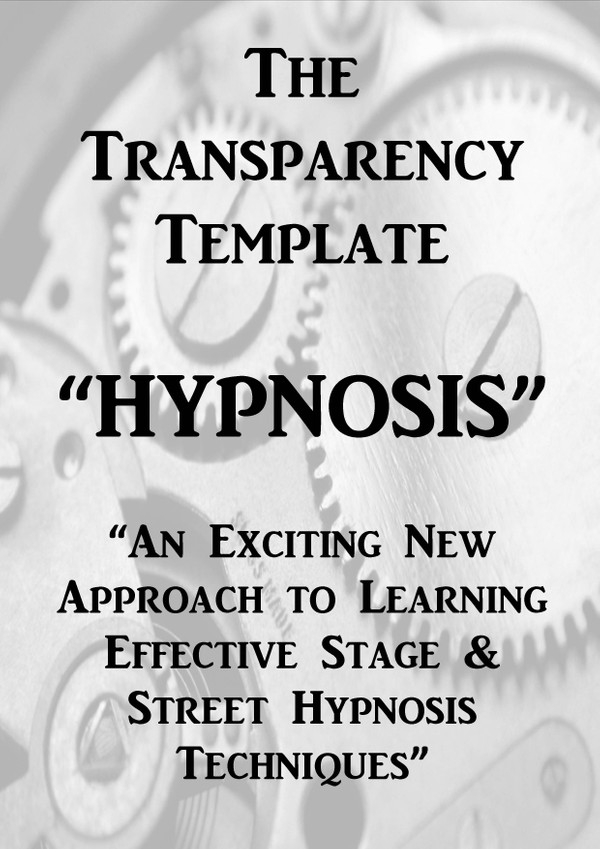 The Transparency Template - Online Viewing Version