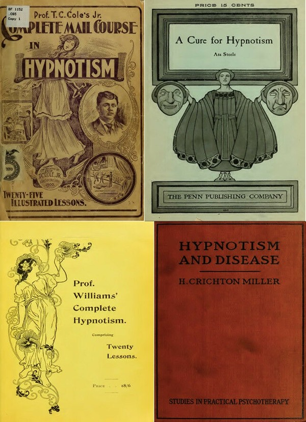 SUGGESTIVE THERAPEUTICS - HYPNOSIS & PERSUASION PSYCHOLOGY = OVER 100 RARE BOOKS
