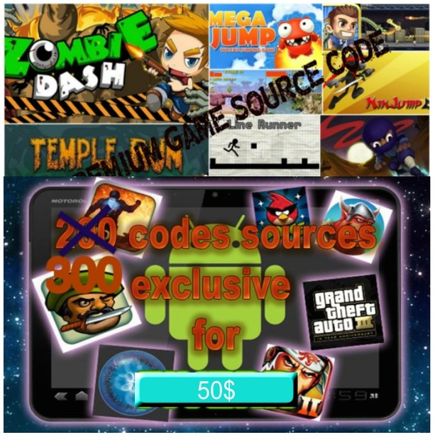 I will give you about 300 android _ games + apps _ source code for $10