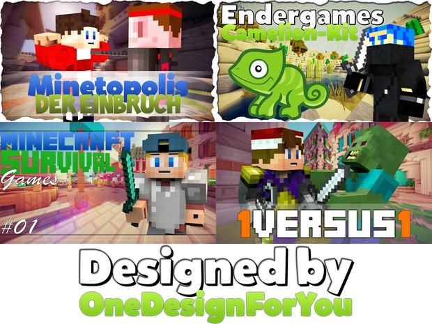 5 individuelle Thumbnails
