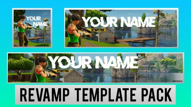Fortnite Revamp Pack   Photoshop Template [YouTube Banner & Avatar]