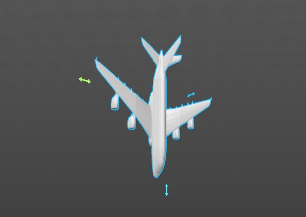 Airplane [Airbus A380] 3D Model