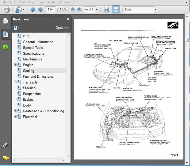 Honda Accord 1994 Repair Manual