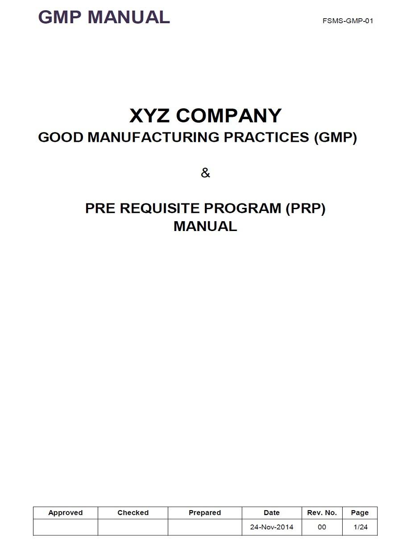Gmp Manual Template
