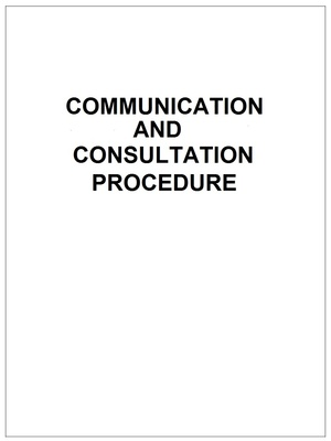 Communication and Consultation Procedure