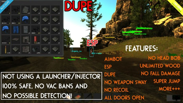 Rust MEGA Hack Package (Aimbot,ESP,Dupe,No recoil/sway,More+++)  Tutorial/Hack