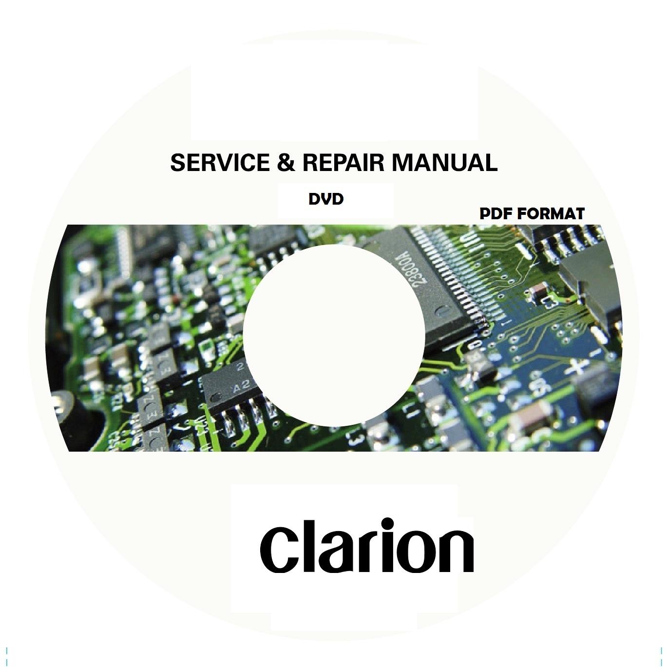 Xdz716 Clarion Wiring Diagram Radio Harness Dvd With Service Manual Pdf Format Rh Sellfy Com Marine