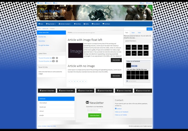 HTML5 Clan Template