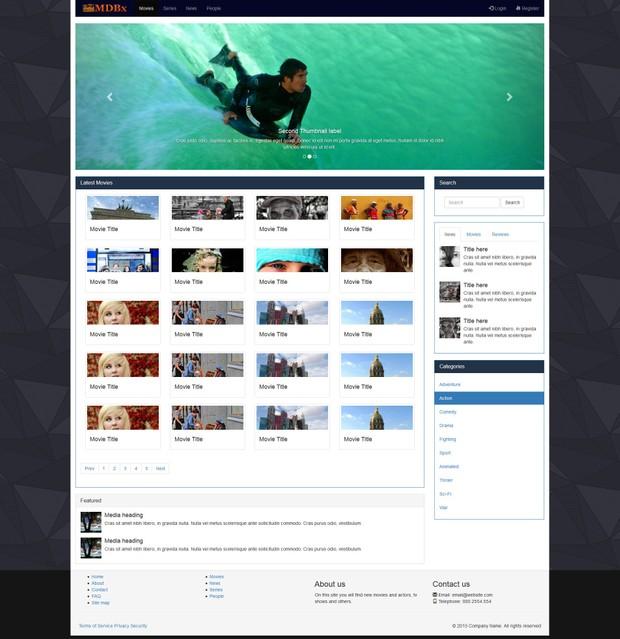 HTML5 Movie Template