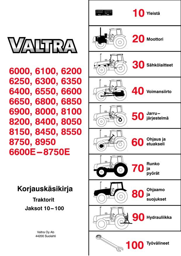 Valtra 6000 ja 8000 korjaamokäsikirja