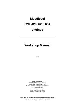Valmet 320 420 620 634 moottori korjaamokirja