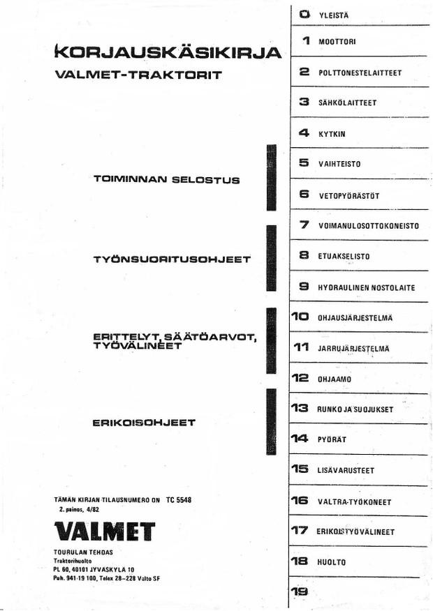 Valmet 02-sarjan korjaamokirja