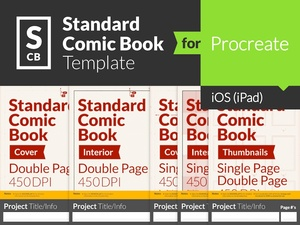 Standard Comic Book Page Template for Procreate