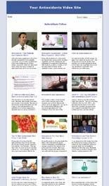 Antioxidants Video Site Builder