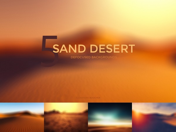 Sand Desert Defocused Blurred Backgrounds