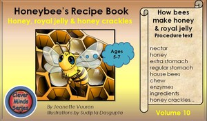 EBOOK HONEYBEE'S RECIPE BOOK VOLUME 10 HOW BEES MAKE HONEY & ROYAL JELLY - RECIPE FOR HONEY CRACKLES